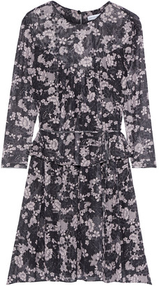 Rebecca Minkoff Jojo Floral-print Mesh Peplum Mini Dress