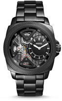Fossil Privateer Sport Mechanical Black Leather Watch