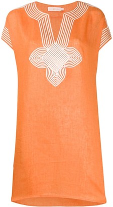 Tory Burch embroidered longline tunic top