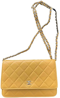 Chanel Wallet on Chain Yellow Leather Handbags