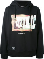Kokon To Zai slogan hooded sweatshirt - men - Cotton - S