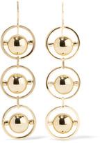 Noir Perigee gold-tone earrings