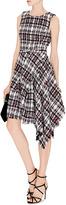 Oscar de la Renta Asymmetric-Hem Tweed Dress