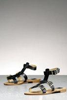 Bermuda Gladiator Sandal w/Buckles in Black-FINAL SALE