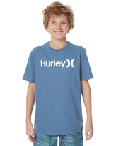 Hurley Boys One And Only Seasonal Heather Tee Blue