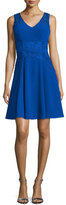 Sue Wong Sleeveless Fit & Flare Soutache Dress