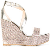 Jimmy Choo Portia 120 sandals - women - Raffia/Leather/Polyester/rubber - 36