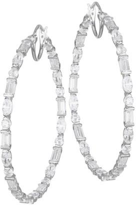 Adriana Orsini Large Mixed-Shape Cubic Zirconia Hoop Earrings