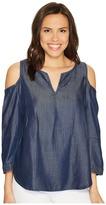 NYDJ Agnes Colder Shoulder Top Women's Clothing