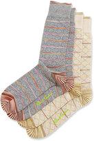 Robert Graham Two-Pair Diamond-Print Socks Set, Multi