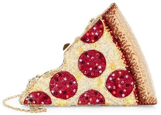 Judith Leiber Couture Pepperoni Pizza Crystal Clutch