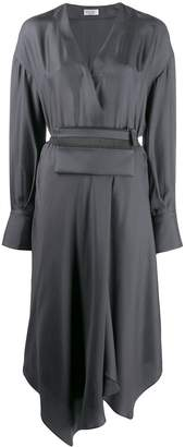Brunello Cucinelli belted wrap shirt dress