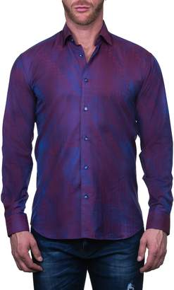 Maceoo Fibonacci Art Red Regular Fit Button-Up Shirt