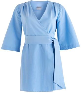 Cocoove Mary-H Wrap Dress Kimono In Pale Blue