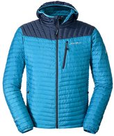 Eddie Bauer Men's MicroTherm StormDown Hooded Jacket, Wave L