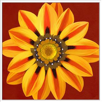 Jonathan Bass Studio Flower Art 12, Decorative Framed Hand Embellished Canvas