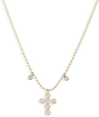 Meira T Meria T Diamond Cross Pendant Necklace