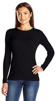 Pendleton Women's Petite Rib Jewel Neck Pullover Sweater
