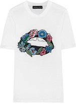 Markus Lupfer Embroidered Cotton-jersey T-shirt - White