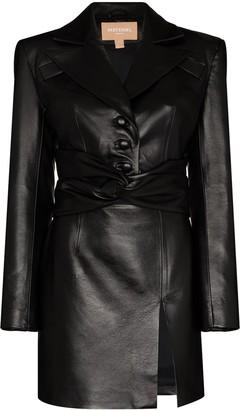 MATÉRIEL Cut-Out Faux-Leather Mini Dress