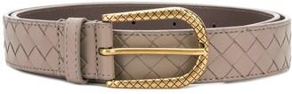 Bottega Veneta Intrecciato Weave Buckle Belt