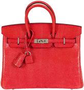 One Kings Lane Vintage Hermès Rouge Lizard 25cm Birkin Bag
