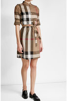Burberry Printed Cotton Shirt Dress