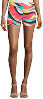 Trina Turk Wavy Striped Short Shorts