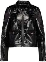 Even&Odd Faux leather jacket black