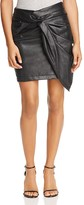 Ella Moss Twist-Front Faux Leather Skirt