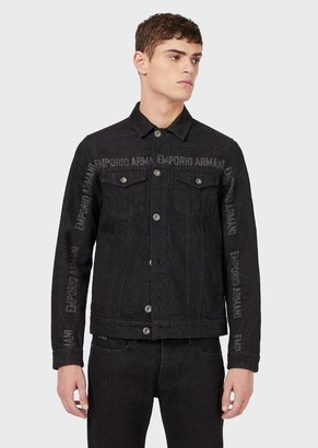 Emporio Armani Denim Jacket With Lettering