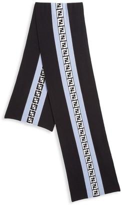 Fendi FF Logo Wool & Cashmere Scarf