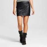 J Women's Faux Leather Zip Front Skirt - J'AIME (Juniors')