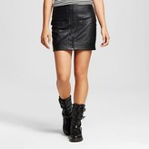 Women's Faux Leather Zip Front Skirt - J'AIME (Juniors')
