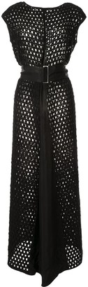Taylor Punctuate open-knit maxi dress