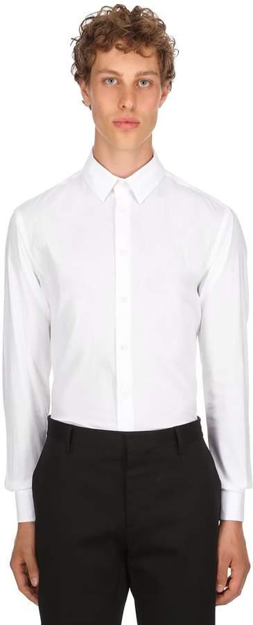 Giorgio Armani Slim Fit Stretch Cotton Poplin Shirt