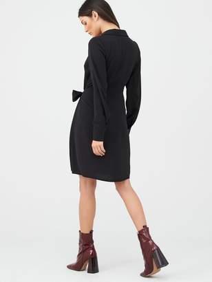 Very Tie Side Formal Tunic Dress - Black