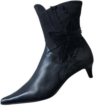 Non Signé / Unsigned Non Signe / Unsigned Black Cloth Boots