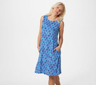 Susan Graver Liquid Knit Sleeveless Dress with Pockets
