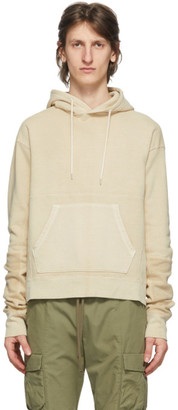 John Elliott Off-White Loose Stitch Beach Hoodie