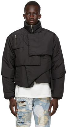 Who Decides War by MRDR BRVDO Black Blanketed Puffer Coat