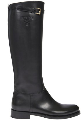 Prada Buckle Detail Over-the-knee Boots