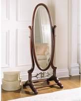 Powell Heirloom Cherry Cheval Floor Mirror