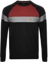 Luke 1977 Adam Colour Block Sweatshirt Black