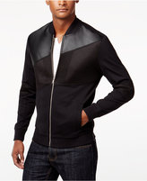 INC International Concepts Men's Mixed Media Bomber Jacket, Only at Macy's