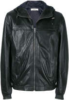 Bally perforated hooded jacket