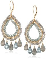 Dana Kellin Luxurious Labradorite and Green Quartz Adorned Earrings