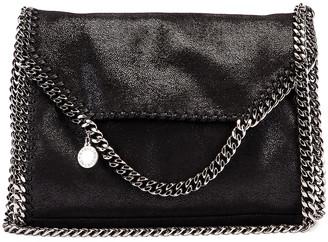 Stella McCartney Shaggy Deer Falabella Big Shoulder Bag in Black | FWRD