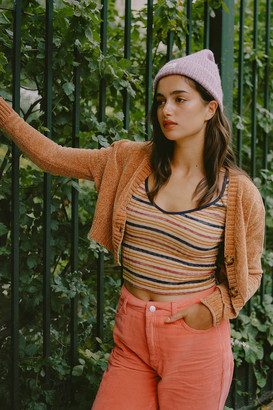 Urban Outfitters Maura Chenille Cropped Cardigan