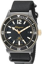 Salvatore Ferragamo Men's FF3200015 1898 Sport Analog Display Quartz Black Watch